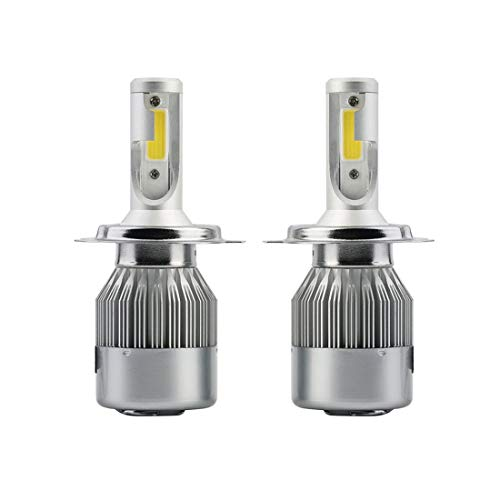 BANAZ Bulbo H4 llevó la Linterna, 2 Piezas de C9 H4 18W 1800LM 6000K IP68 a Prueba de Agua del Coche LED Linterna Auto con 2 Bombillas LED, DC 9-36V (Color : White Light)