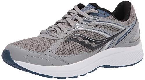 Saucony Men's Cohesion 14 Running Shoe, Grey/Blue, 10