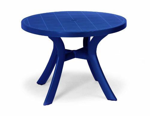 BEST 18511020 Tisch Kansas rund, Durchmesser 100 cm, blau