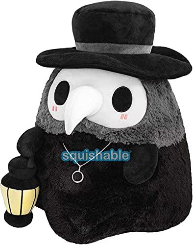 whchire Plaga Doctor Felpa,Squishable Plague Doctor,Juguetes suaves pareja luminosa de dibujos animados animales de peluche de juguete de fiesta de felpa de juguete de doctores