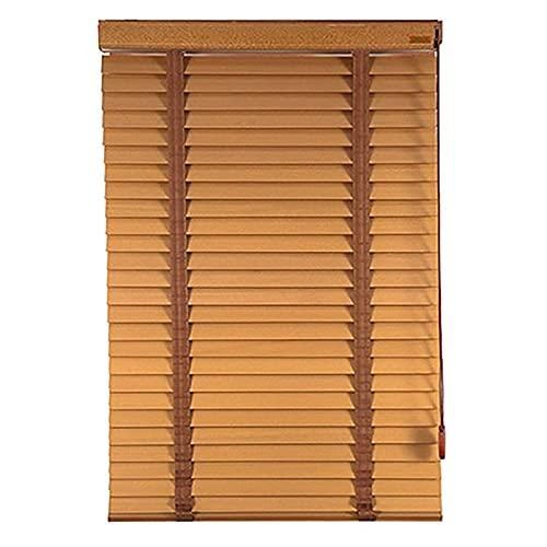 Lqdp Jalousie Rollos Fensterrollos 75cm/95cm/125cm/145cm Breite Jalousien, Holz Sichtschutz Sonnenuntergang Plissee für Wohnzimmer Restaurant Balkon (Color : WxH, Size : 95x200cm)