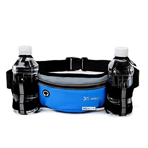 FEPDW Bolsillo multifuncional para botella de agua, bolsa de cintura deportiva, adecuada para actividades al aire libre masculinas y femeninas, como senderismo, ciclismo, correr, escalada, salida azul