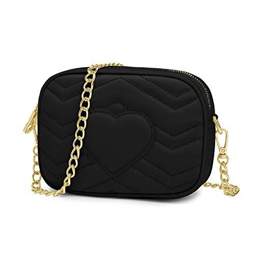 Wind Took bolsos bandolera mujer bolsos mujer bandolera bolso de hombro bolso de moda impermeable bolso de fiesta pequeño bolso de mensajero de cadena negra