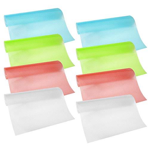 Kühlschrank Pad 8 Stück Multifunktions Kühlschrankmatten Matten Antibakteriell Waschbar Zuschneidbar Kühlschrank Matten 29cm x 45cm