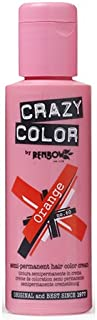 Crazy Color Semi Permanent Hair Color Cream Orange No.60 100ml, 4 Count