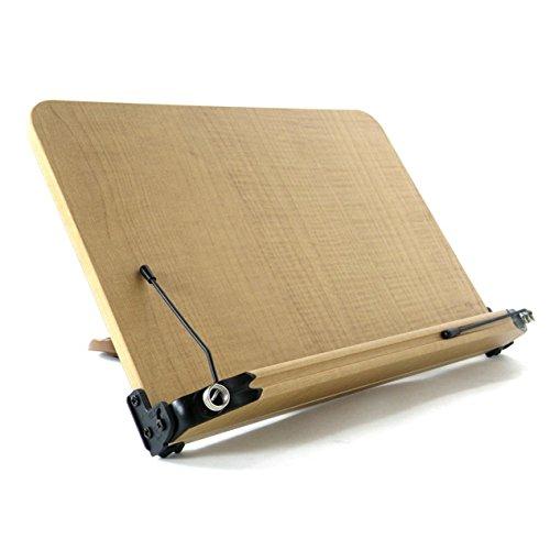 ブックスタンド 13段階調節 (407mm x 268mm) 書見台 筆記台 読書台 木のぬくもり折りたたみ式 軽い 移動式 多用途 (407mm x 268mm)