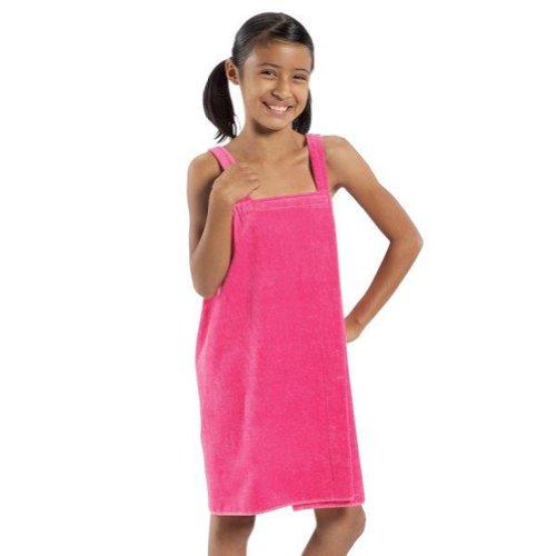 BY LORA Frottee-Spa-Handtücher für Mädchen und kleine Damen Medium hot pink