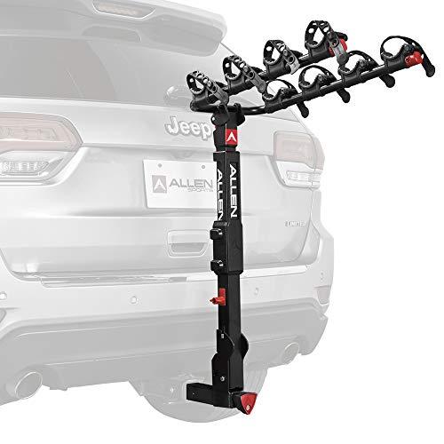 Allen Sports Premier Locking Quick Release 4-Bike Carrier for 2 in. Hitch, Black