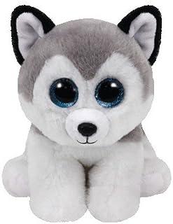 TY Bebé Joven Peluche gris Buff, Husky 15 cm