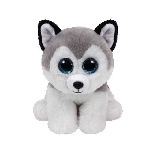 TY - Beanie Babies Buff, peluche husky, 15 cm (United Labels