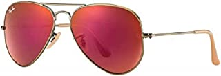 Authentic Ray-Ban Aviator RB 3025 167/2K Demiglos Brushed Bronze/Red Mirror 58mm