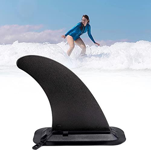 Sdoowes Aleta para tabla de surf extraíble SUP con soporte de PVC para tabla de surf, aleta central de SUP de repuesto, para tabla de surf, kayak, accesorios de remo.