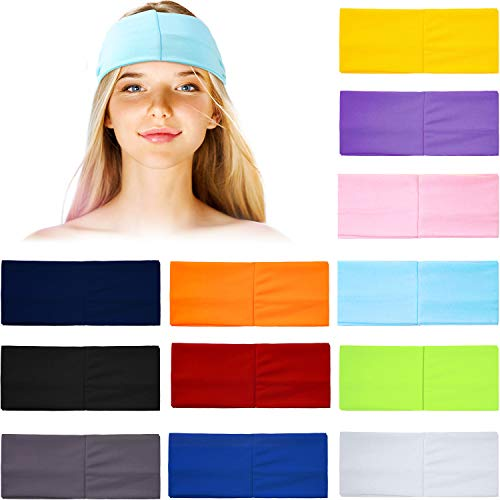 12 Pieces Turban Headband for Women Twisted Boho Headwrap Stretchy Hair Bands Elastic Exercise Band Knot Headwear Head Band Tie for Yoga Workout Hair Band Accessories