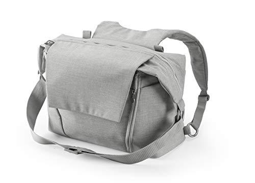 STOKKE® Wickeltasche - Windeltasche mit faltbarer Wickelunterlage - Farbe: Grey Melange