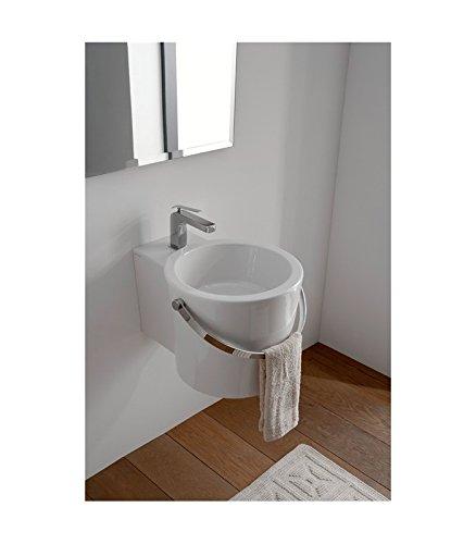 Waschbecken Eimer zum Stellen oder aufgehoben weiß Scarabeo Bucket 40R