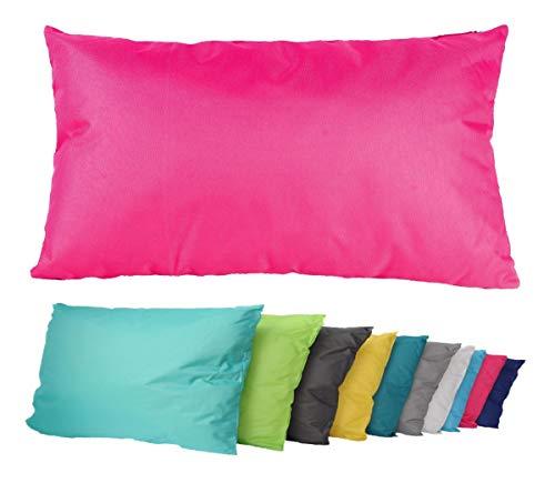 JACK Outdoor Lounge Kissen 30x50cm Dekokissen Wasserfest Sitzkissen Garten Stuhl Lotus Effekt, Farbe:Pink