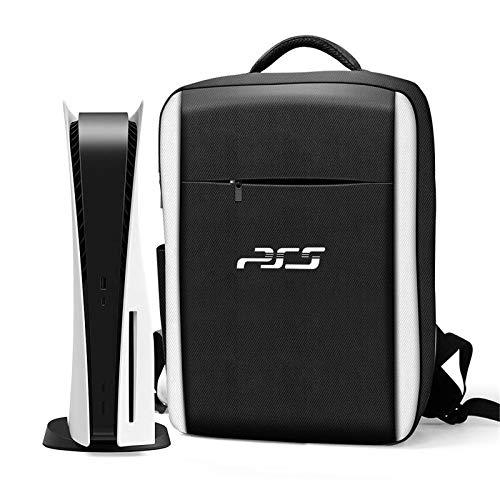 GSJDD Estuche de Transporte Ps5, Estuche de Transporte para Consola Compatible con Playstation 5 y Ps5 Edición Digital, Mochila portátil Impermeable Bolsa de Almacenamiento