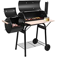 Lovinland Charcoal Grill with 2 Cooking Area and Wheels