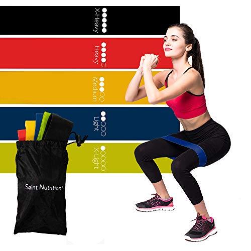 Saint Nutrition® Fitnessbänder Set, Resistance Bands, Widerstandsbänder, für Muskelaufbau, Gymnastik, Yoga, Theraband Fitnessband Trainingsbänder