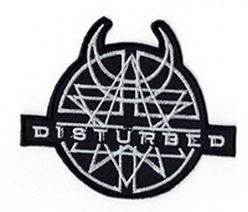 Disturbed apliques bordados de hierro en parches por PATCH CUBE