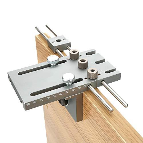 3-in-1 pluggenponsmal, Jadpes 3 in 1 6/8/10/15 mm zelfcentrerende deuvelmal Houtbewerking Boorgeleider Locator Kit voor doe-het-zelf houtbewerking, woondecoratie