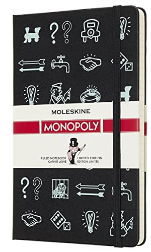 "Moleskine Limited Edition Monopoly Notebook, Hard Cover, Large (5"" x 8.25"") Ruled/Lined, 240 Pages"