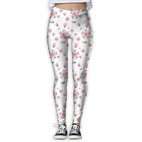 Ewtretr Yoga Pilates Hosen Fitnesshose für Damen, Colored Cherries Printed Leggings Full-Length Yoga Workout Leggings Pants