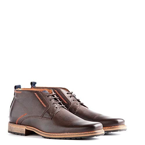 Travelin' London Leder Chukka Boots - Business Schuhe mit Schnürsenkel - Braun EU 43