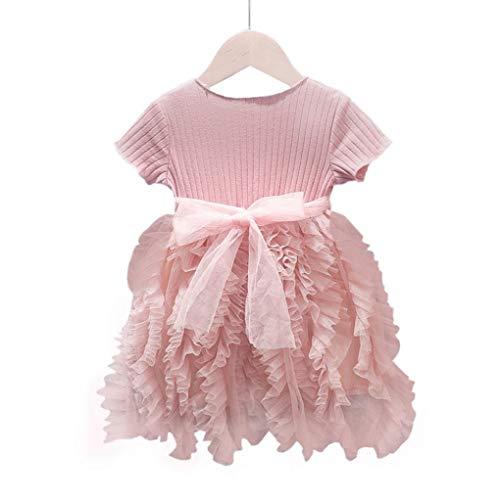 hong Wu Baby-Kleid-Prinzessin Dress Tutu Kinder Kult Rock-Klage für Mädchen Kinder Rosa 100CM Kleidung Accessoires