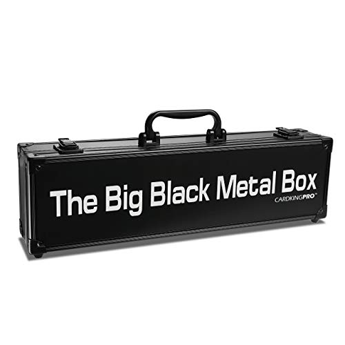The Big Black Metal Box, Compatible with Cards Against Humanity, Magic The Gathering, MTG, (Game Not Included) | Includes 8 Dividers | (Long Version) Fits up to 1400 Loose Unsleeved Cards