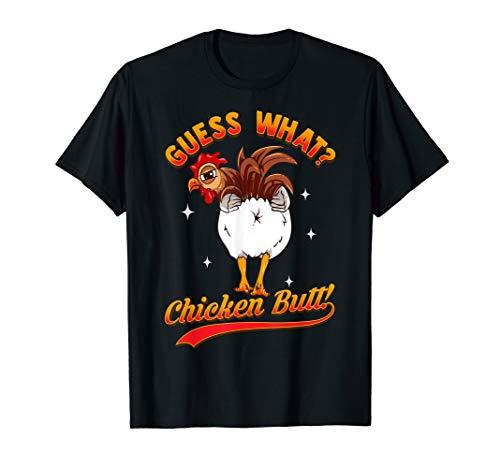 GUESS WHAT? CHICKEN BUTT! Funny Kids Joke T-Shirt