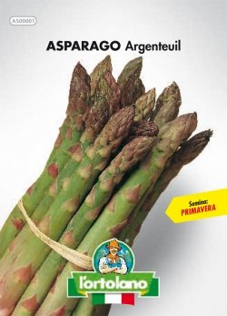 Sementi orticole di qualità l'ortolano in busta termosaldata (160 varietà) (ASPARAGO D'ARGENTEUIL)