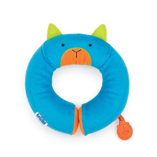 Trunki Kid's Travel Neck Pillow with Magnetic Child's Chin Support - Yondi Small Bert (Blue)