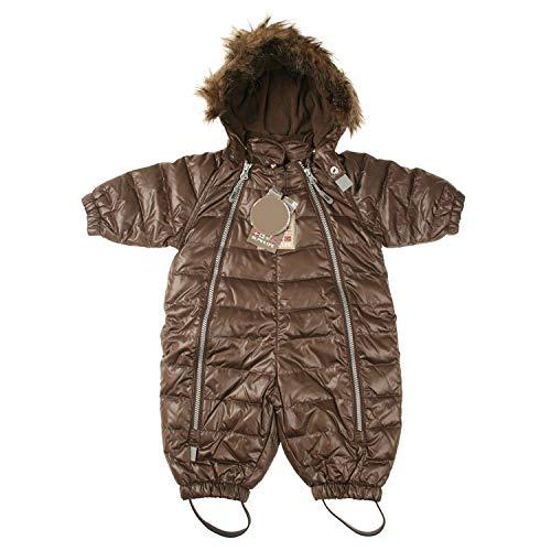 Hust & Claire - Baby Baby Kinder Daunen-Schneeanzug Overall in braun Größe 68 (6 Monate)