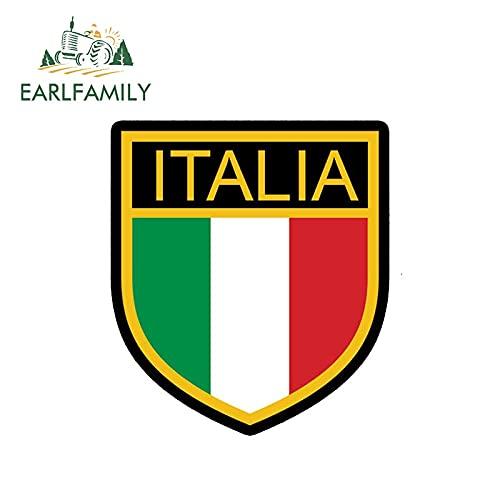 PJYGNK Sticker de Carro 13 cm x 12 cm Estilo de Coche Italia calcomanía Vinilo Pegatina Italia Antiguo Retro Escudo Bandera Impermeable Pegatinas de Coche