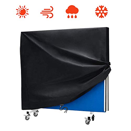 AKEfit opklapbare tafeltennistafel outdoor waterdichte stofdichte zonnebrandcrème Heavy-Duty, outdoor ping pong tafelovertrek (65