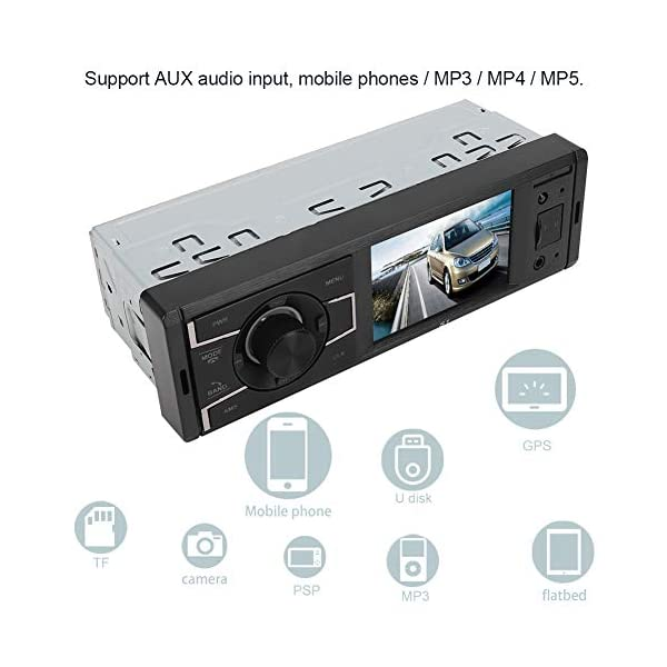 MP3 Player Car Stereo MP5  Player Stereo Radio Music Video Receiver Car MP3 Bluetooth Radio Player Stereo Audio in-Dash Remote Controller Support USB TF AUX RCA 5