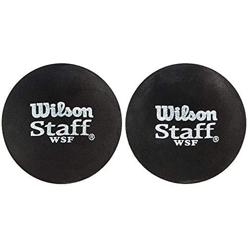 Wilson Squash-Ball, Staff, 2 Stück, Rot, Schwarz, WRT617700 & Squash-Ball, Staff, 2 Stück, Blau, Schwarz, WRT617500