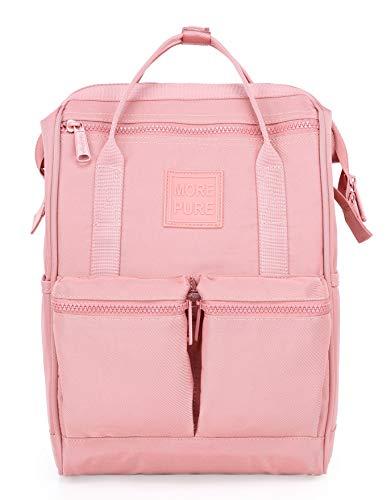 HotStyle MOREPURE 238s Fashion Blumen Damen Laptop Rucksack 12 Zoll (35x23x15cm), Millennial Pink