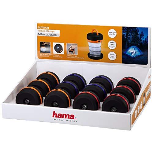 Hama Outdoor - Linterna LED Iluminación al Aire Libre, Color Negro