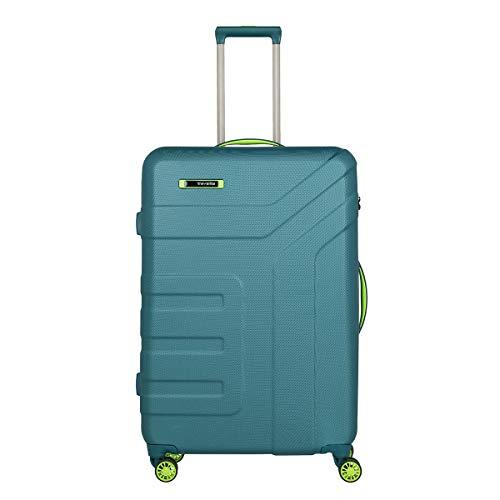 travelite Gepäck Serie Vector: Robuster Hartschalen Trolley in stylischen Farben, 4-Rad Koffer Größe L mit TSA Schloss, 072049-22, 77 cm, 103 Liter, Petrol/Limone