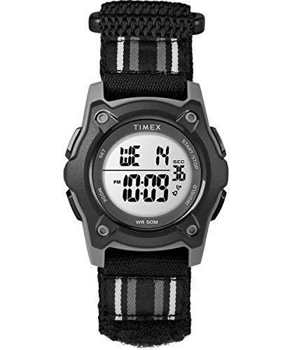 Timex Unisex Kinder Digital Uhr mit Stoff Armband TW7C26400