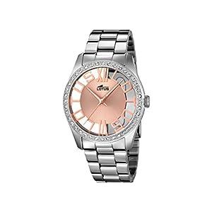 Lotus 18126/1 – Reloj de Pulsera Mujer, Acero Inoxidable, Color Plateado