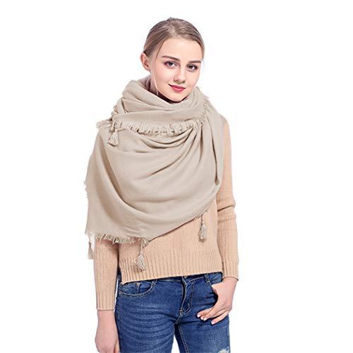 CWFUN Damen Fashion Pashmina-Schal und Tücher für Frauen, weiches Cashmere-Gefühl, warmer Winterschal Gr. XXL( Taille 34-38Inch), gebrochenes weiß