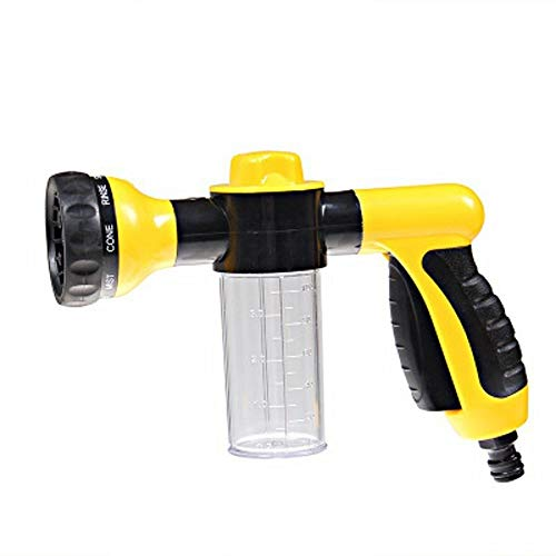 Auto-onderdelen Car Wash Portable Auto Foam Water G-un High Pressure 3 Grade Nozzle Jet Car Washer Spuitbus Cleaning Tool Automobiles (Color : Yellow, Size : Free)