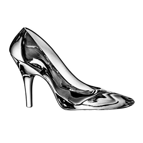 Crystaljulia 2113 - Soprammobile a Forma di Scarpa con Tacco a Spillo, in Cristallo al Piombo 24%, 21 cm, Trasparente