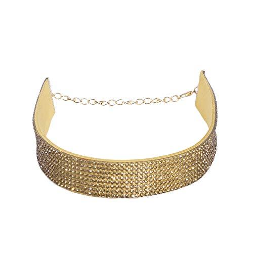 Choker kettingen voor vrouwen Gesimuleerde Diamond Twist Jurk Ketting Sieraden Accessoires Populaire kettingen Goud