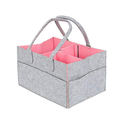 Find Discount Felt Cloth Storage Bag Foldable Baby Large Size Diaper Caddy Changing Table Organiser ...