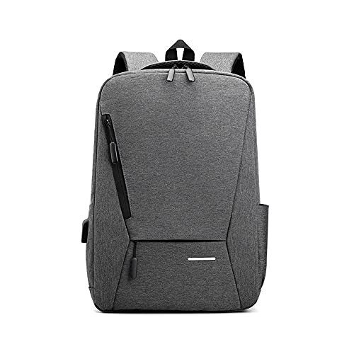 Kfhfhsdgsamsjb Mochila portátil para Hombres, 15.6 Pulgadas Slim Men Backpacks Bolsa de Negocio Mochila (Color : Gray)