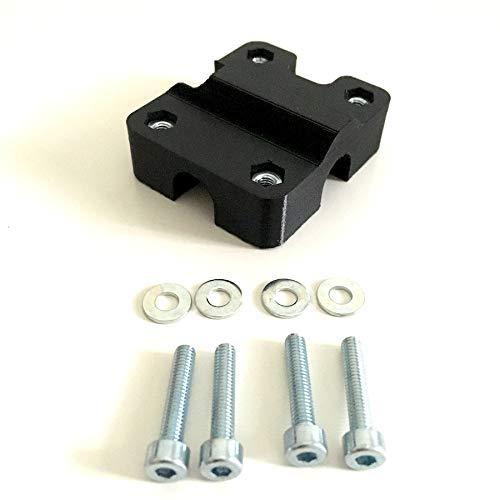 Supporto per traversino manubrio moto compatibile con Garmin Zumo (400-500-550-595-660 (12mm))